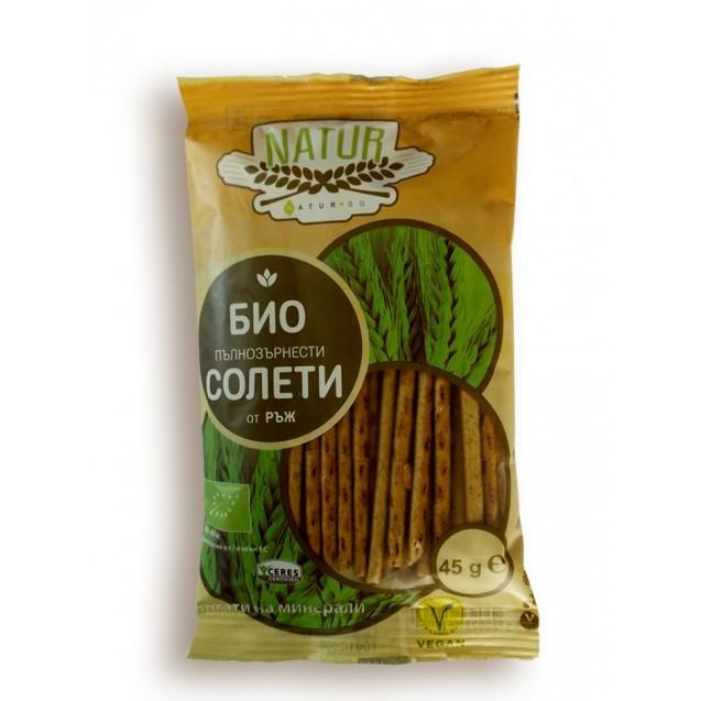 Organic rye sticks wholegrain